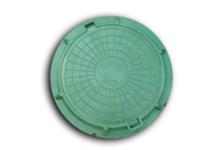 Люк полимерно-песчаный тип Л 750/70 мм (зеленый) 3т