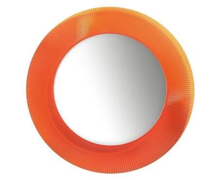 Зеркало круглое LAUFEN Kartell BY 780 мм, оранжевое Фотография_0