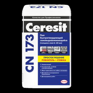 Пол CERESIT CN173 самовыравнивающийся 20кг (от 6 до 60 мм) Фотография_0