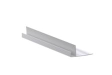 Угол ПВХ F-образный 8-10 мм, белый (3 м)