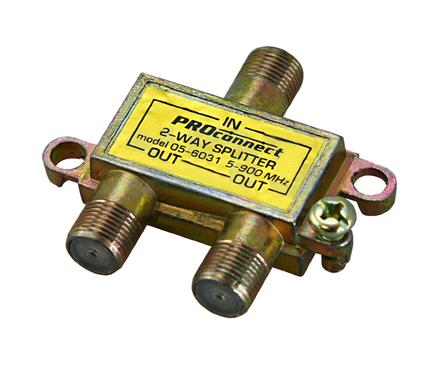Делитель-2 ТВ PROCONNECT под F разъем  5-900 MHz Фотография_0