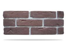 Гипсовая плитка Кирпич под клинкер 500-21 темно-коричневый, 6.5х24 см