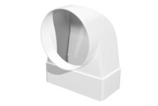 Соединитель 90° прямоугольного воздуховода 60х120 с круглым D100мм