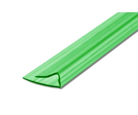 Профиль торцевой UP, 4 мм, L= 2,1 м, зеленый Фотография_0
