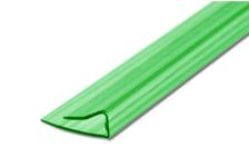 Профиль торцевой UP, 4 мм, L= 2,1 м, зеленый
