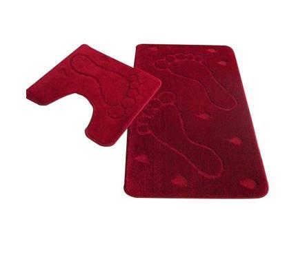 Набор ковриков для ванной Zalel 2 предмета 55х85 (бордовый)