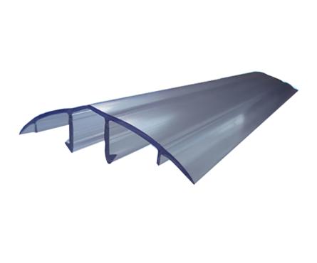 Профиль соединительный крышка, HCP-U, 6-10 мм, прозрачный, 6 м, БСТ Фотография_0