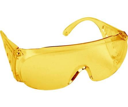 Очки защитные.поликарбонатнаямонолинза с боковой вентиляцией, желтые DEXX