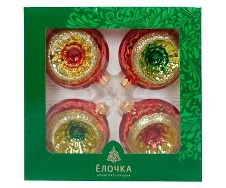 Набор шаров Фонарики стекло, диаметр 6.2 см (4 шт) Фотография_0