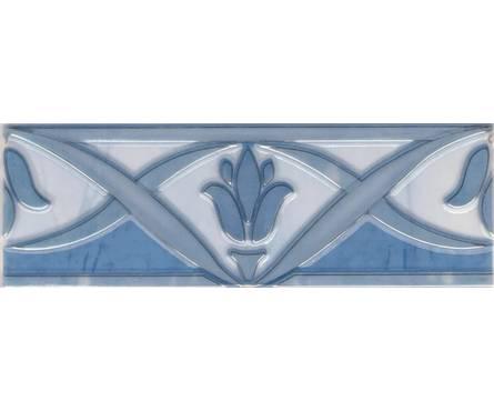 Плитка керамическая Березакерамика Елена синий фриз Лотос 200х70 Фотография_0