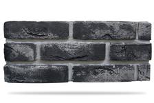 Гипсовая плитка Кирпич под клинкер 500-18 (серый) 6,5х24 см
