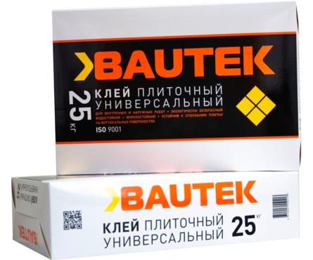 Клей для плитки BAUTEK Универсальный 25 кг Фотография_0