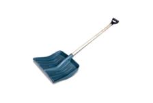 Лопата снеговая 428*490 мм пластмассовая с дер/черенком