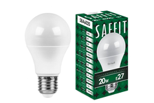 Лампа светодиодная SAFFIT LED 20 Вт, Е27, 4000 К, белый, груша