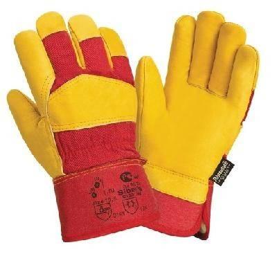 Перчатки кожаные комбинированные утепленные Фотография_0