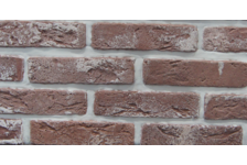 Гипсовая плитка Старый кирпич 100-21 темно-коричневый, 4.7х19 см, 1.1м2 (96 штук)
