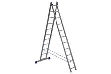 Лестница алюминиевая Алюмет 2-х секционная, 11 ступеней, 310/506 см