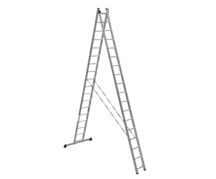 Лестница алюм. 2-х секц.17 ступеней HS2 6217 (высота 479/871 см, вес 20.70 кг)