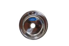 Мойка круг MIXLINE d51 (0.6) вып 3 1/2 (глуб чаши 17 см) с сифином