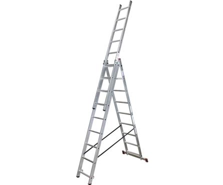 Лестница ВИХРЬ ЛА 3*7 алюминиевая 3-х секционная, 7 ступеней Фотография_0