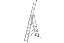 Лестница ВИХРЬ ЛА 3*7 алюминиевая 3-х секционная, 7 ступеней