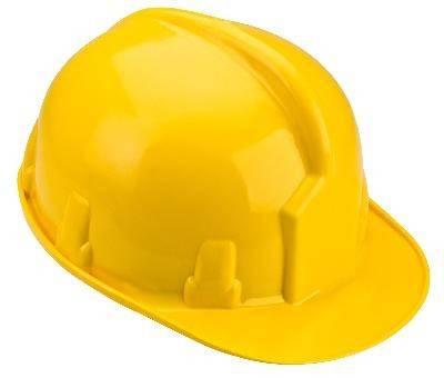 Каска строительная желтая TOPEX