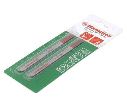 Набор пилок для лобзика Hammer Flex 204-102 JG WD T101D (2pcs) дер.\пл.,74мм,шаг 4.0-5.2, HCS,2шт