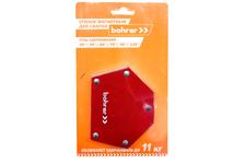 Магнитный угольник для сварки Bohrer 71111325, S3 (3) 30°/45°/60°/75°/90°/135° 25LBS (до 11 кг удержание)