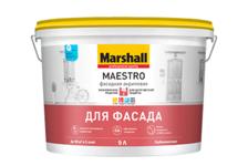Краска ВД Marshall МАЭСТРО Фасадная АКРИЛОВАЯ ВW 9 л