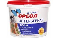 Краска ВД ОРЕОЛ ДИСКОНТ интерьерная полиакриловая белая матовая 3 кг