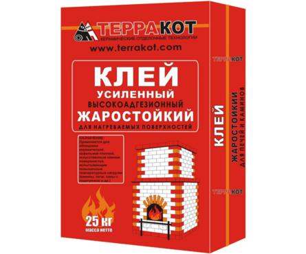 Клей ТЕРРАКОТ усиленный жаростойкий 25 кг Фотография_0