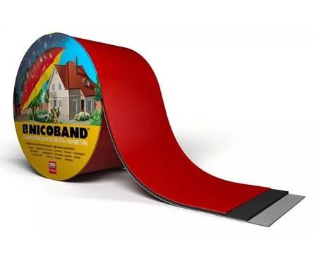 Самоклеящаяся герметизирующая лента NICOBAND красная 3000х100
