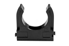 Крепеж-клипса для труб Промрукав 16 мм, черная (упаковка 10 шт)