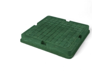 Люк полимерно-песчаный квадрат. тип Л 700х700мм (зеленый) 3т