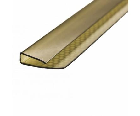 Профиль торцевой UP, 8 мм, бронза,  2,1 м Фотография_0