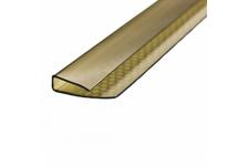 Профиль торцевой UP, 8 мм, бронза,  2,1 м