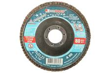Круг лепестковый торцевой абразивный Луга для шлифования, 125 х 22,23мм, зерно P80