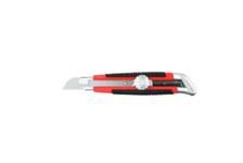 Нож URAGAN с выдвижным сегмент. лезвием, двухкомп. корпус 18мм
