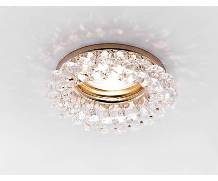 Светильник точечный Ambrella K206 CL/G золото/прозрачный MR16