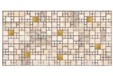 Панель ПВХ 955х480мм Мозаика Мрамор с золотом