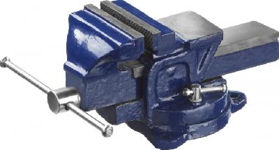 Тиски слесарные DEXX с поворотным механизмом, 100мм