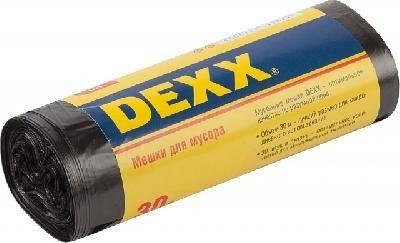 Мешки для мусора DEXX, черные 30л, 30шт.