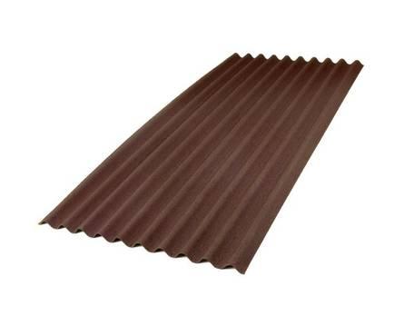 Ондулин SMART лист коричневый (1950х950мм)