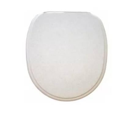 Сиденье для унитаза белый мрамор, тип 3