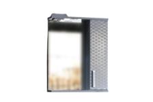 Зеркало-шкаф СТК Джульетта-50 3D плетение (белый) правый, 500х650х150 мм