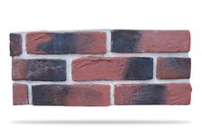 Гипсовая плитка Кирпич под клинкер 500-08 красно-коричневый, 6,5х24 см