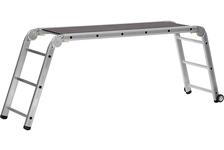 Подмости рабочие СИБИН ПРП-36 3x6x3 ступени алюминиевые, складные с колесами и съемной площадкой