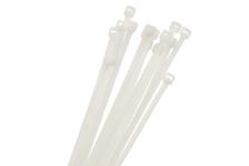Хомуты нейлоновые Navigator 4,8х400 мм, белые (100 шт/уп)