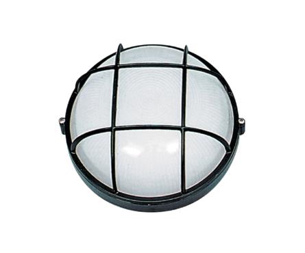 Светильник банный Italmac круг с решеткой, 60 ВТ, черный Фотография_0