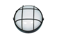 Светильник банный Italmac круг с решеткой, 60 ВТ, черный